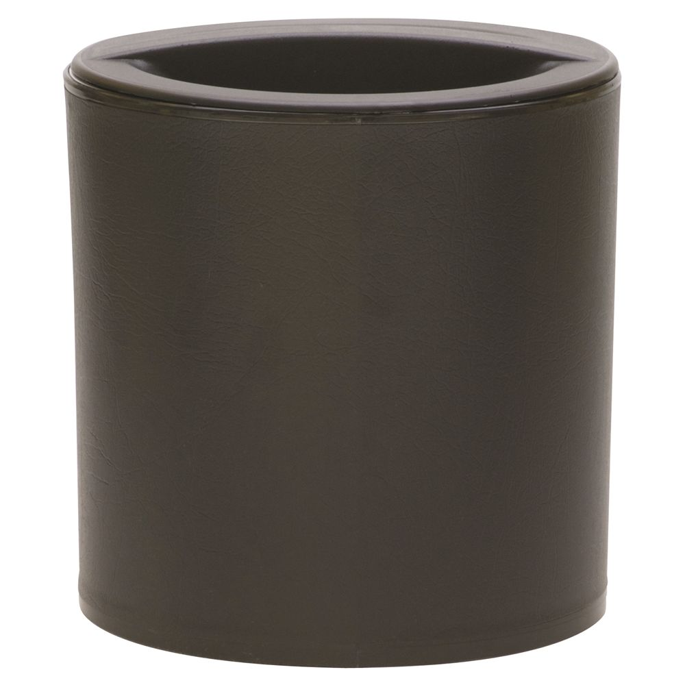 Design Line 3 Quart Round Leatherette Ice Bucket, Black