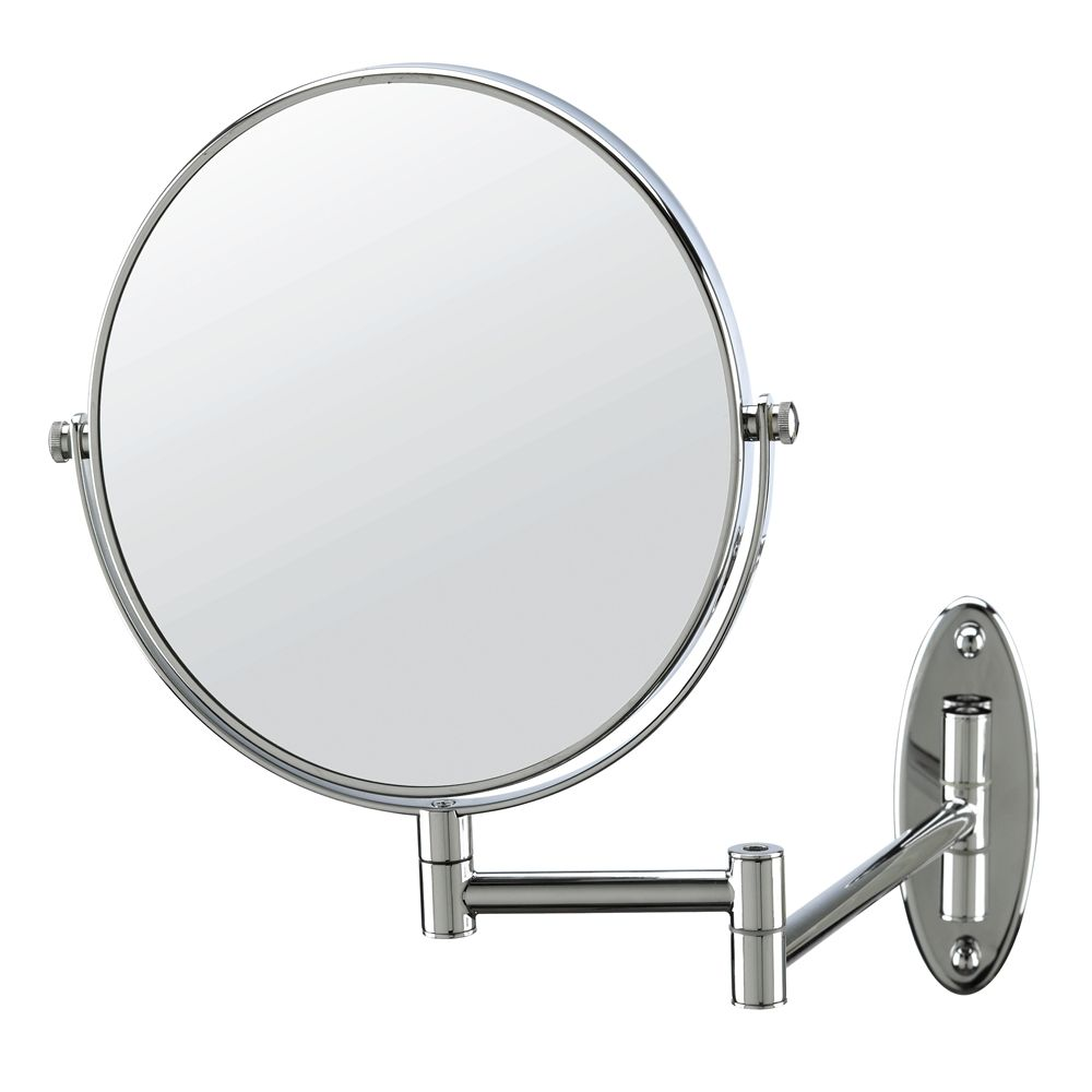 Conair® Non-Lighted, Wall-Mount 5x Magnification Mirror, Polished Chrome Finish