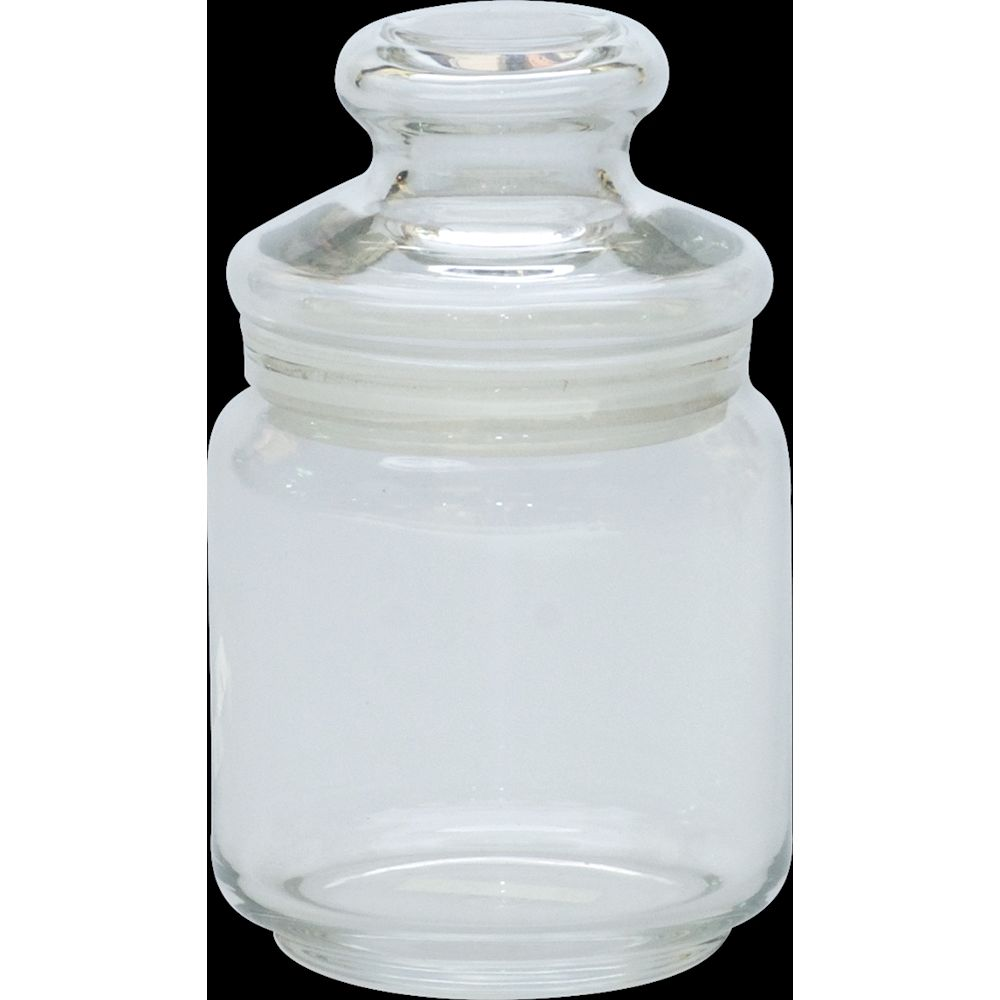 Glass Vanity Jar with Lid, 16 Ounces