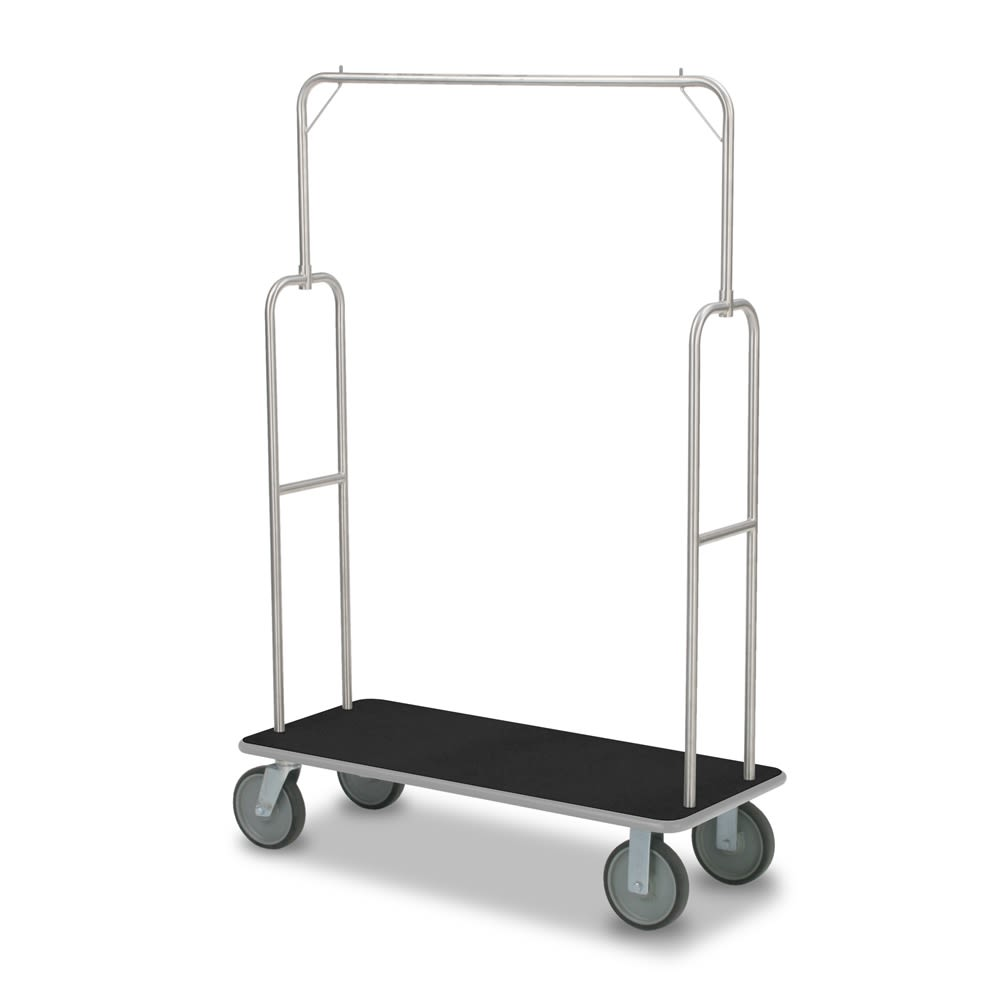 Bellman Cart, Model 2495 Long Deck, 22Wx70.5Hx47L, Brushed Stainless Steel