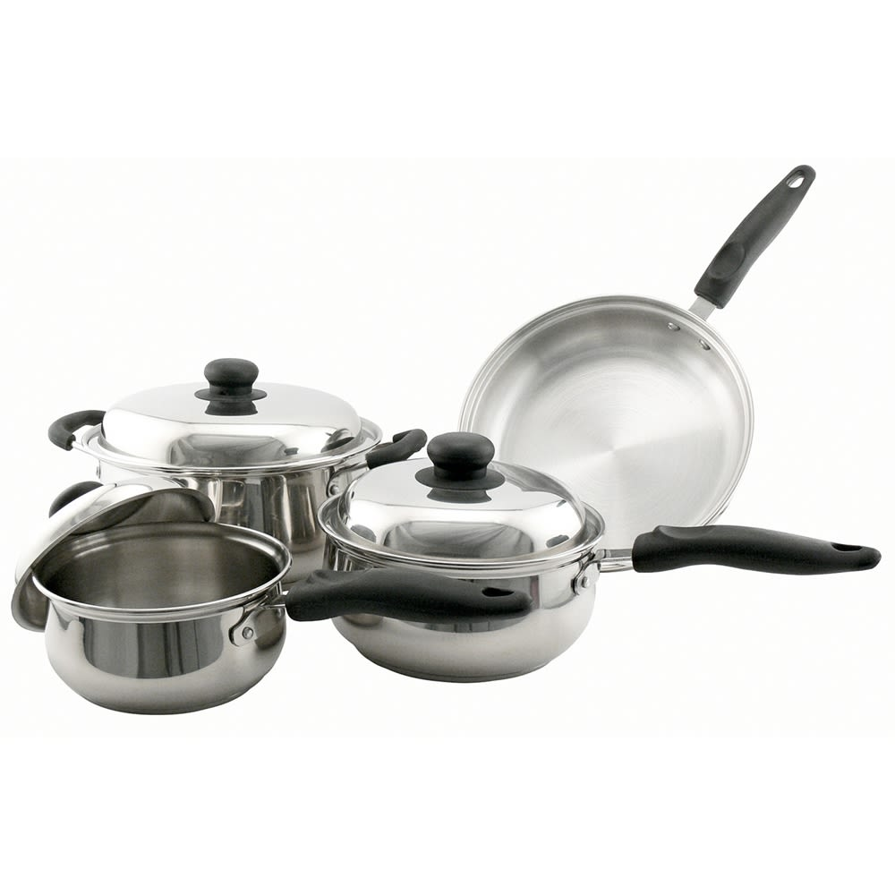 Empire Classic Stainless Steel 7-Piece Heavy Duty Cookware Set