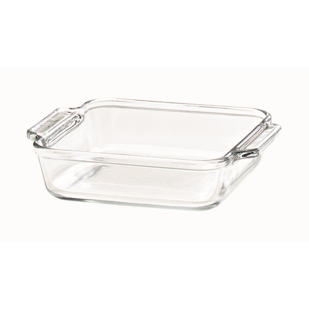 Anchor® Glass Cake Pan, 8x8 Square, Clear