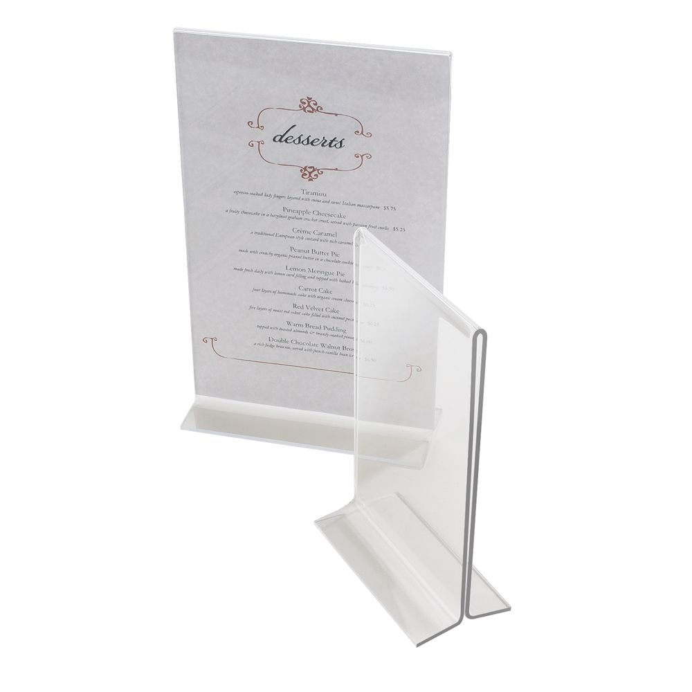 T-Type Table Top Displayette, 5x7, Clear