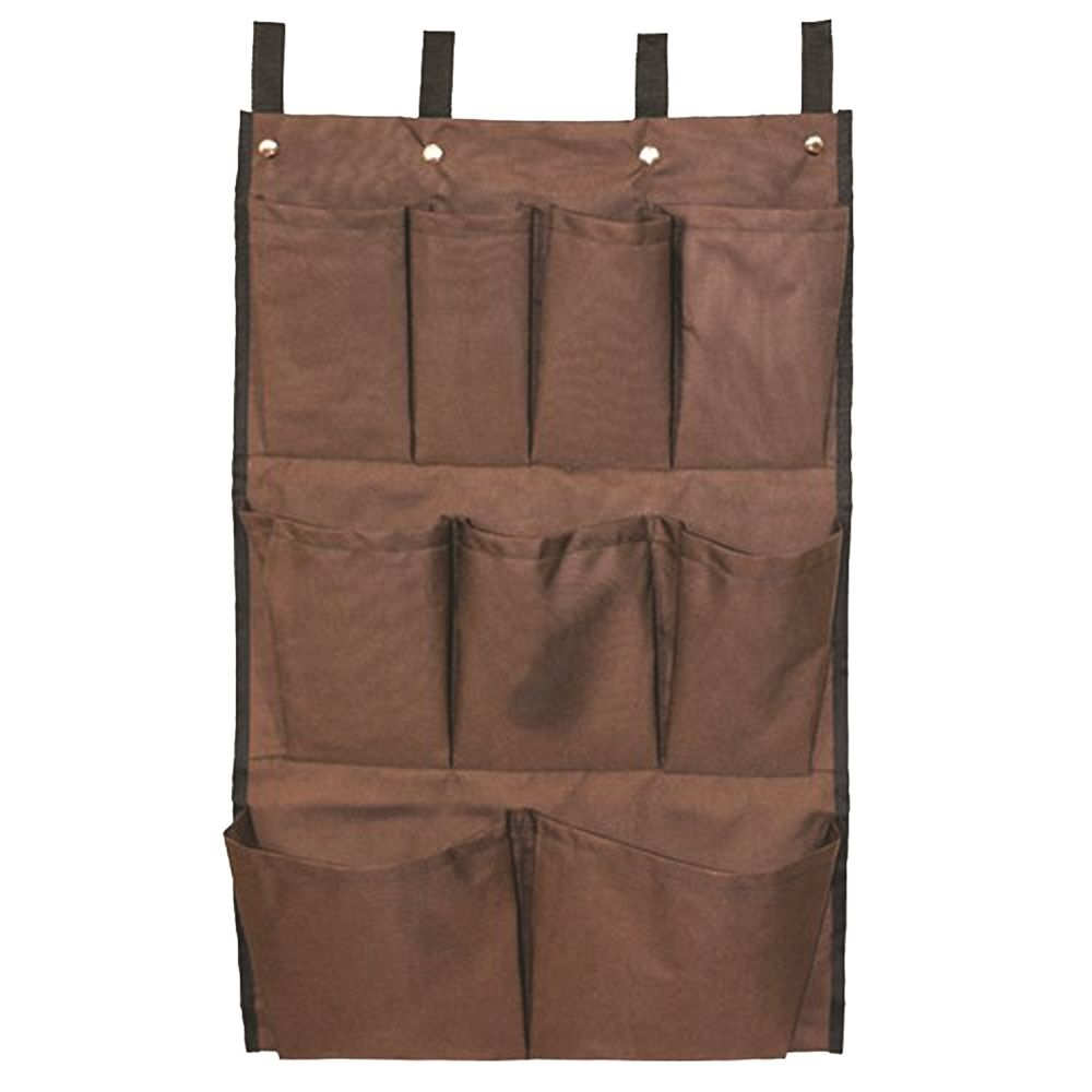 Federal Industrial Textile® Caddy Bag for Laundry Cart, 9 Pocket, 12 x 18 x 30, Brown