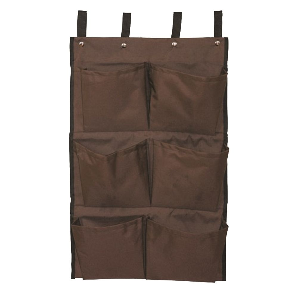 Federal Industrial Textile® Caddy Bag for Laundry Cart, 6 Pocket, 13 x 32, Brown