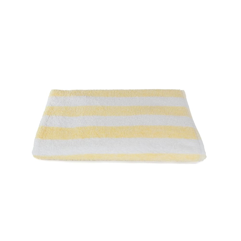 Fibertone Terry Pool Towel, Blended End Hem, 30x70, 15.0 lbs/dz, Yellow/White Stripes