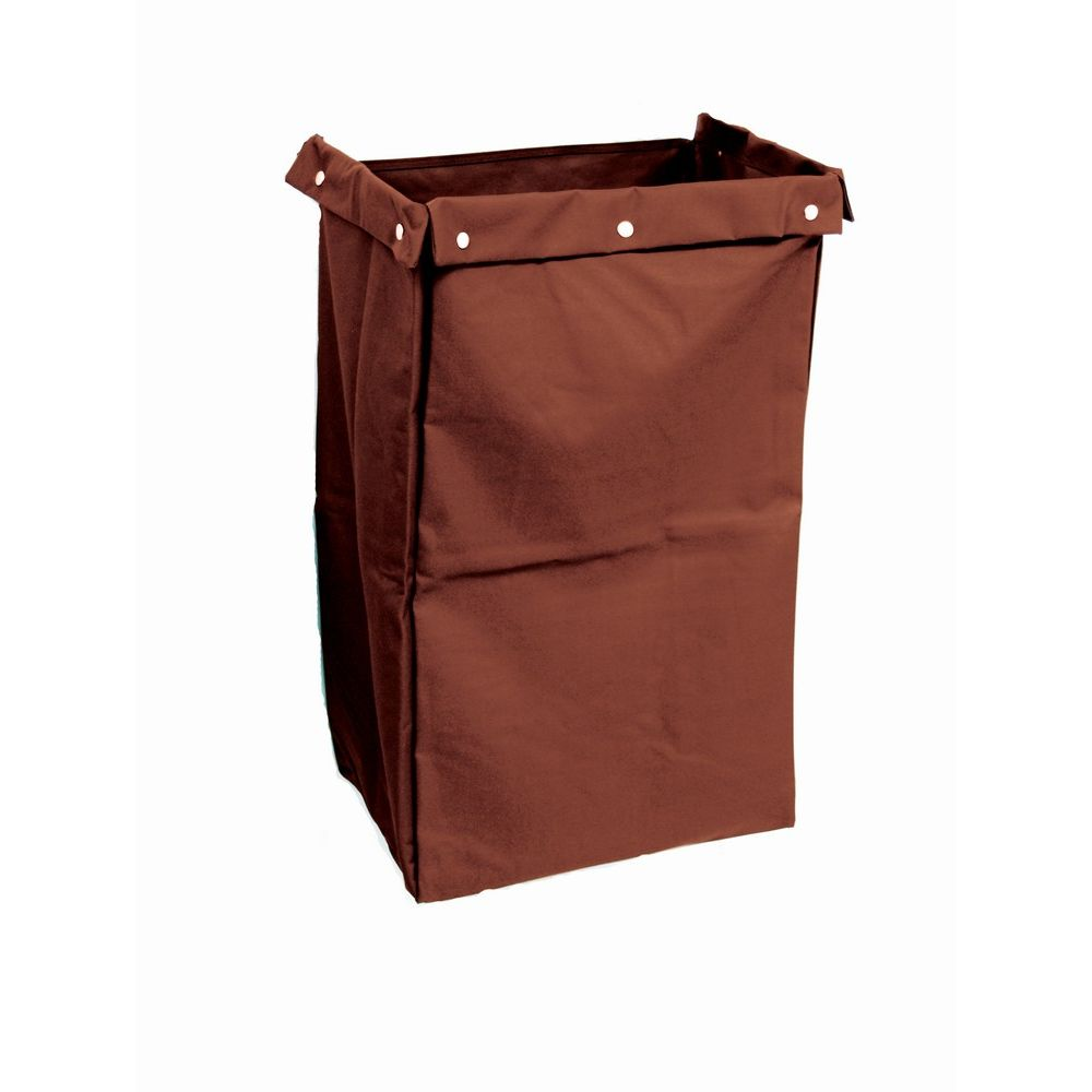 Hospitality 1 Source® Housekeeping Cart Bag Fold Over Flaps, 12x18x30, Brown