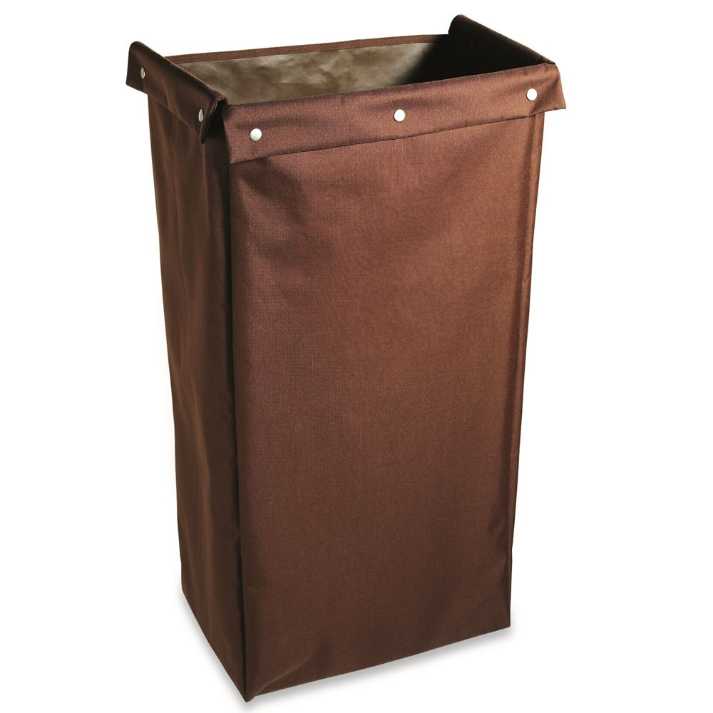Hospitality 1 Source® Housekeeping Cart Bag Fold Over Flaps, 12x18x36, Brown