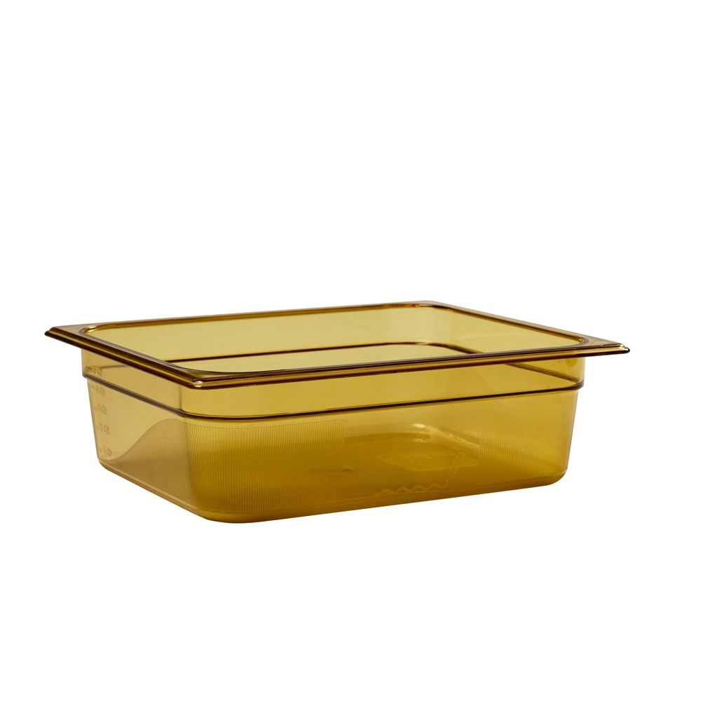 Rubbermaid® Hot Food Pan, 1/2 Size, Amber