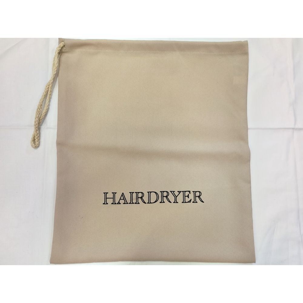 Hair Dryer Bag with Nylon Handle, Natural