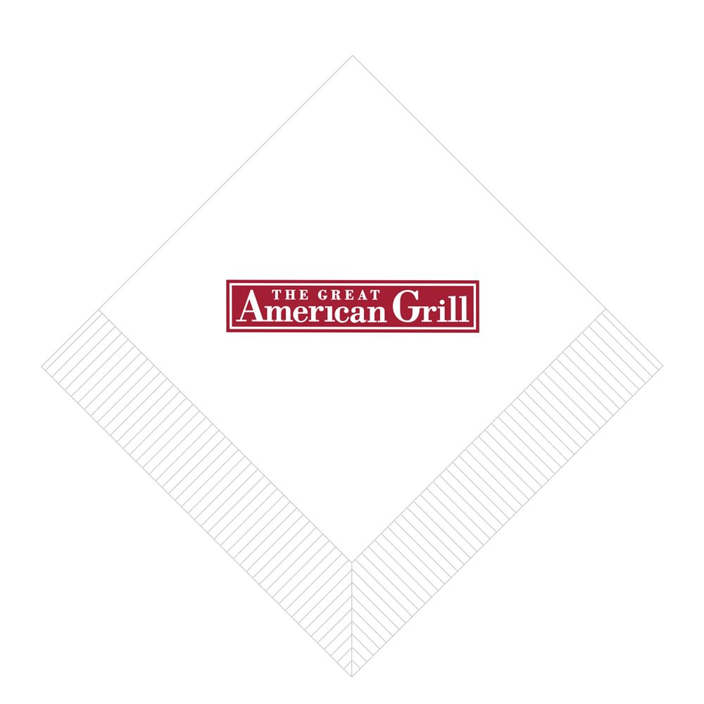 All American Grill Beverage Napkin