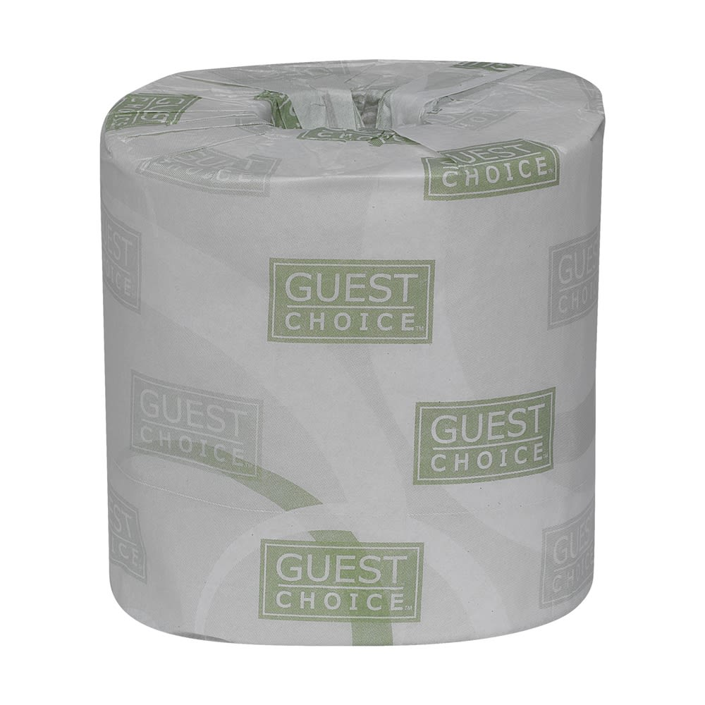Guest Choice 2-Ply Toilet Paper, 500 Sheets Per Roll, White