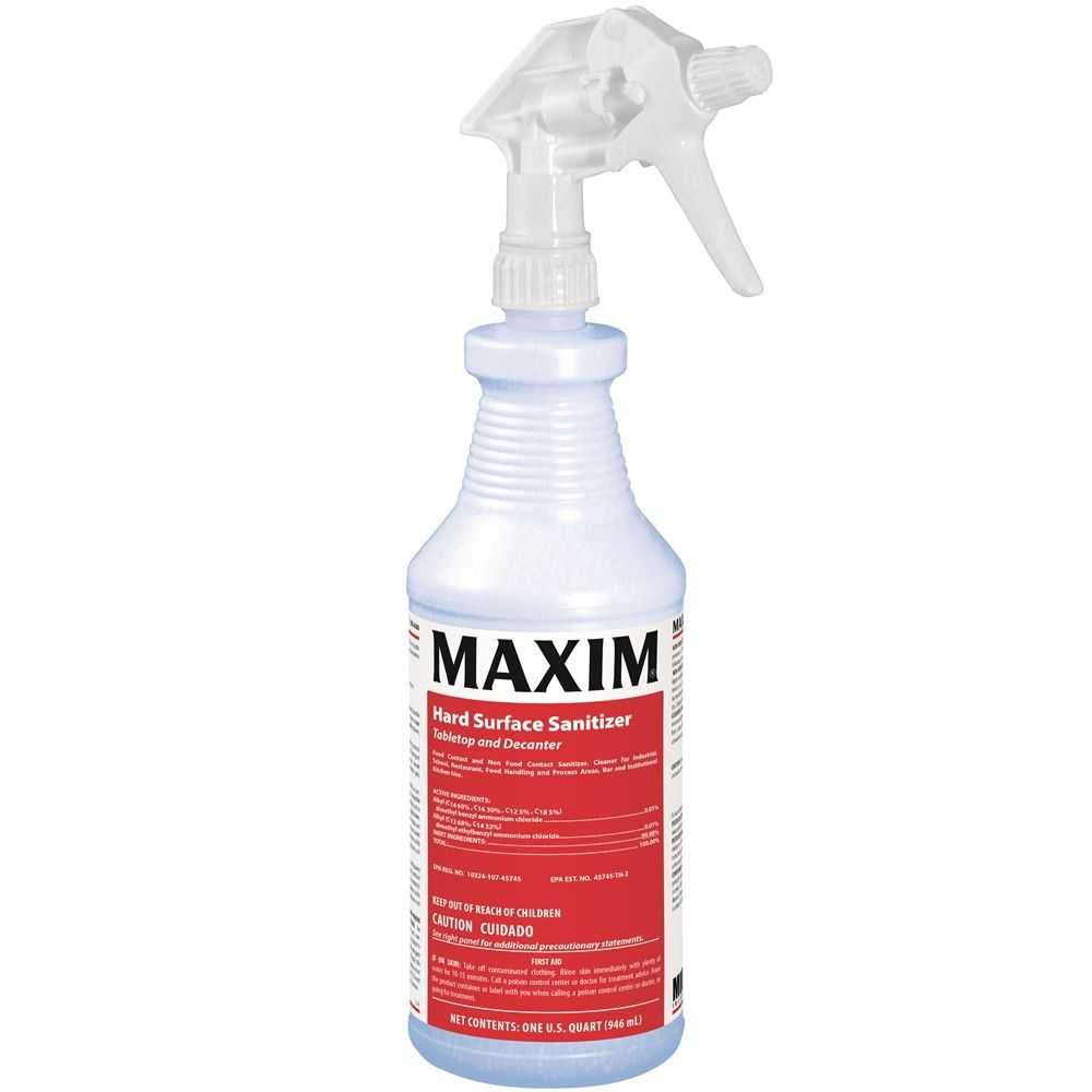 Maxim® Hard Surface Sanitizer Table Top and Decanter 1 Quart