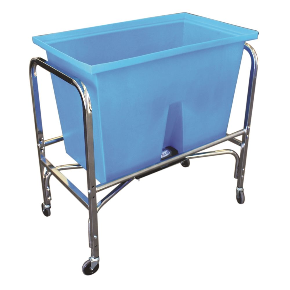 Newhouse Specialty® Laundry Basket 6 Bushel Scale, 75 lb Capacity, Blue, Chrome Frame
