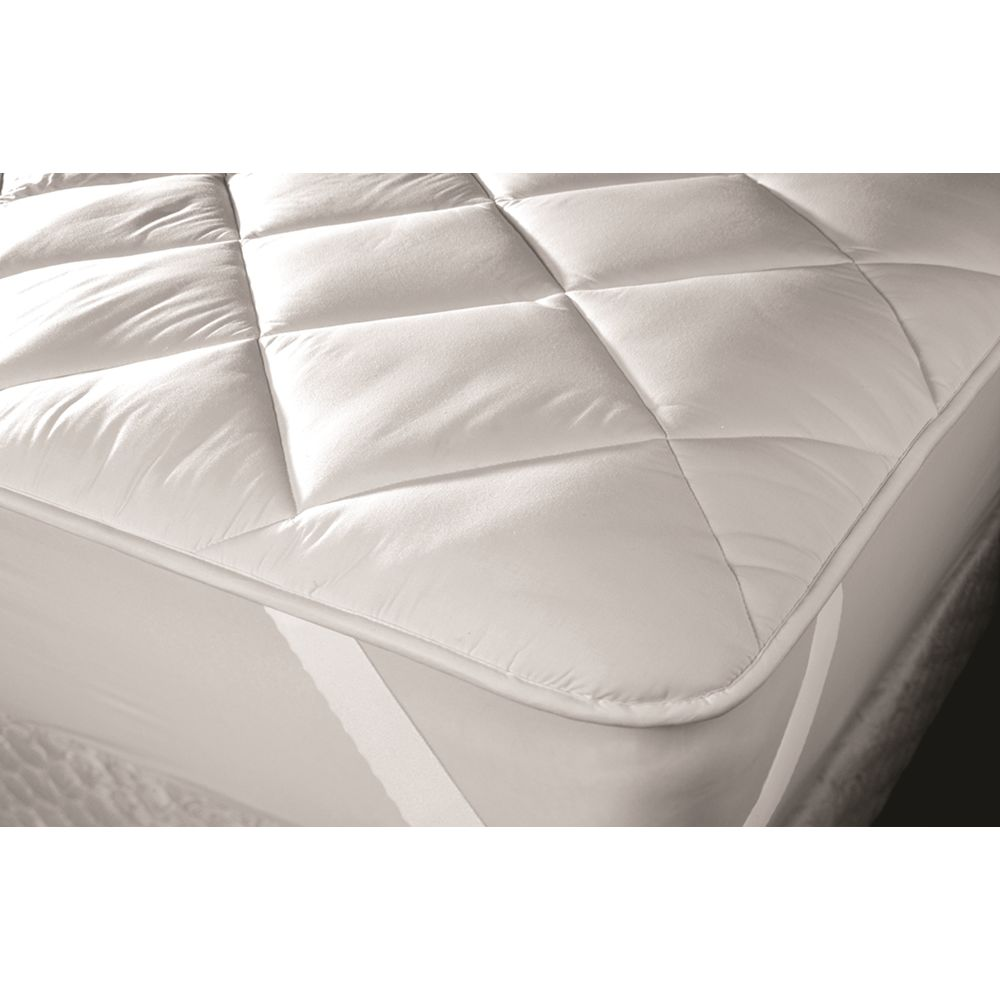 Premier Mattress Topper, Quilted 14 oz, Cloth Top & Bottom, Queen 60x80, Anchor Bands