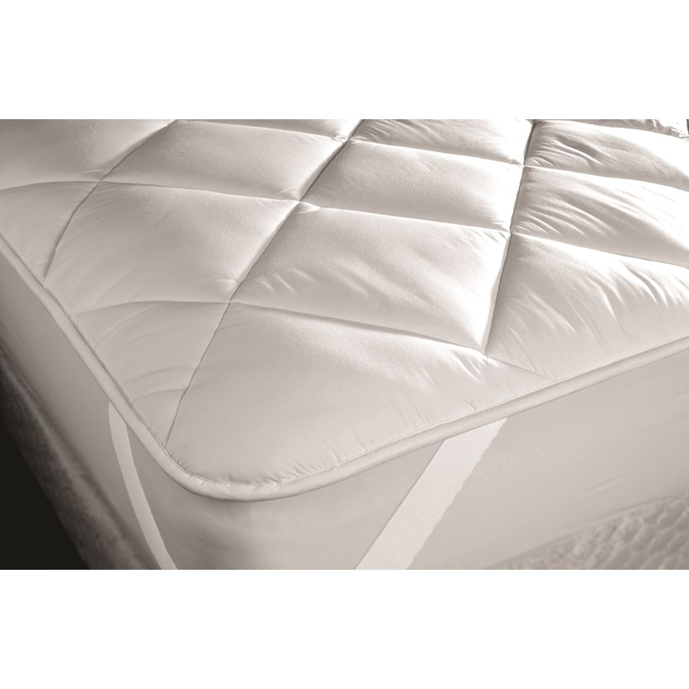 Concierge Super Topper, Quilted 24 oz, Cloth Top & Bottom, Queen 60x80, Anchor Bands