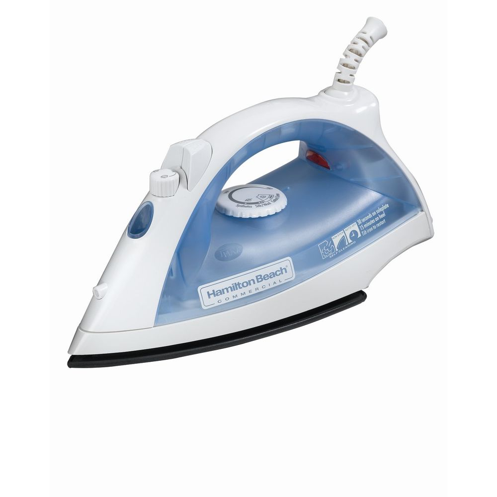 Hamilton Beach® Lightweight Iron, Auto-Off, Sprayer, White/Blue