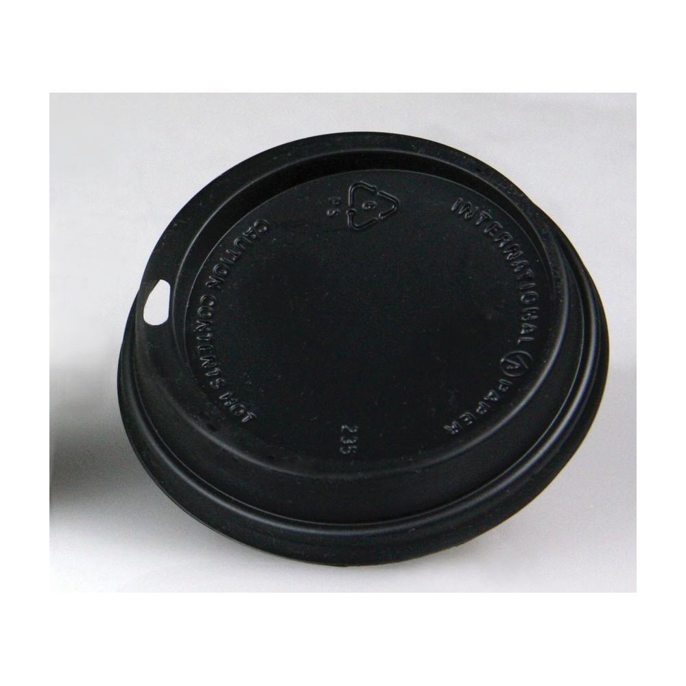 Ecotainer® Dome Sip Lid for 10-24 oz Cup (Both SFI & Eco), Black