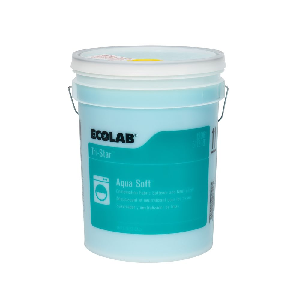 Ecolab® Tri-Star Aqua Soft NP Fabric Softener & Neutralizer 5 Gallon