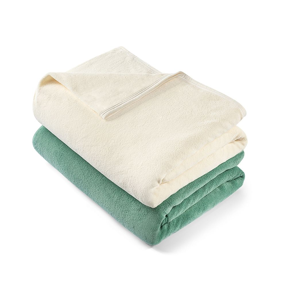 Connoisseur Micro Velour Blanket, King 108x90, 5.5 lbs. Sage