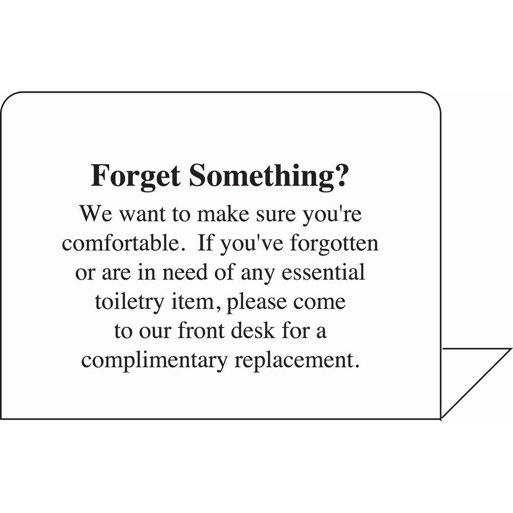 Sign - Forget Something Easel, 4x3, White/Black Print