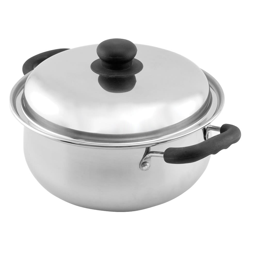 Empire Classic Stainless Steel Dutch Oven with Lid, 5qt