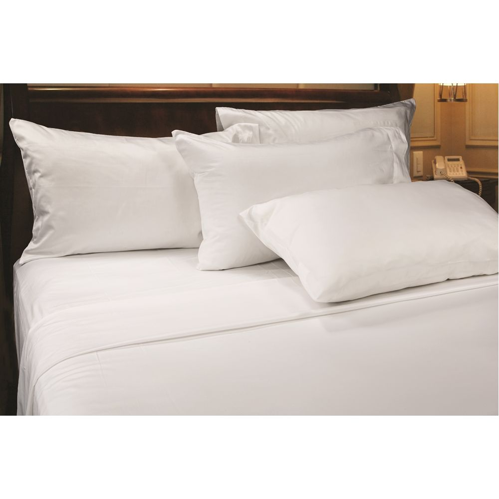 Connoisseur T300 Blend Sateen Weave, King Flat Sheet, 118x124 CS, White