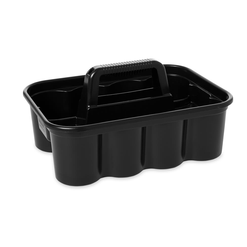 "Rubbermaid® Deluxe Carry Caddy, 15"" l  x 10.9"" w x 7.4"" h, Black"