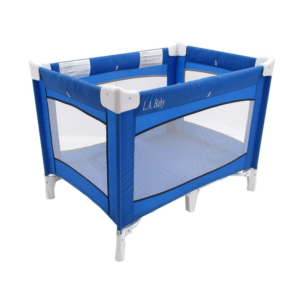 Commercial Play Yard, 30.5Wx30.5Hx43.5L, Royal Blue