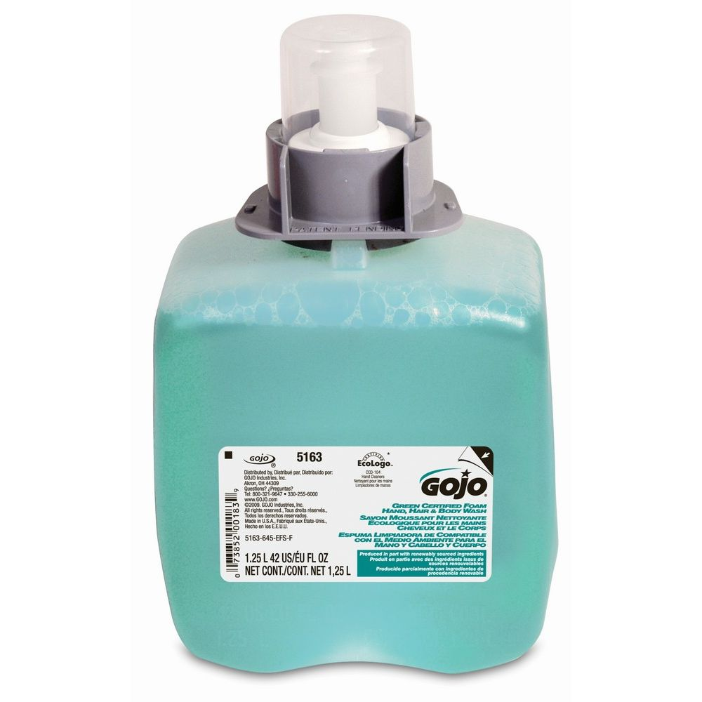 GOJO® Luxury Foam Hair & Body Wash, FMX 1250ml Refill
