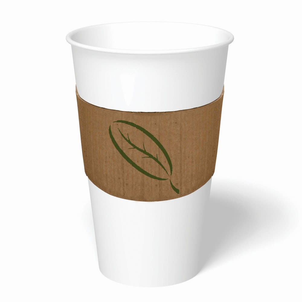 Cup Buddy® Hot Cup Sleeve, Plain Stock, Fits 10-24oz Cups