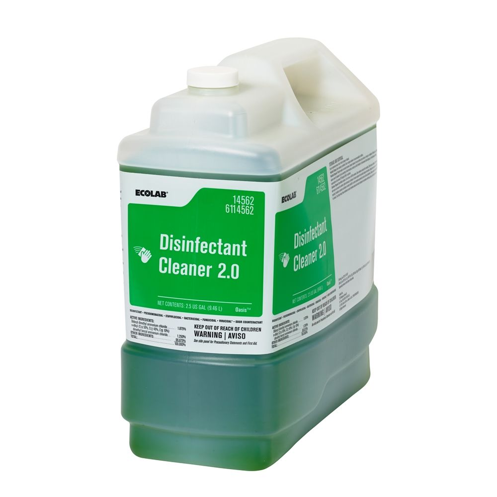 Ecolab® Disinfectant Cleaner 2.0, 2.5 Gallon #6114562
