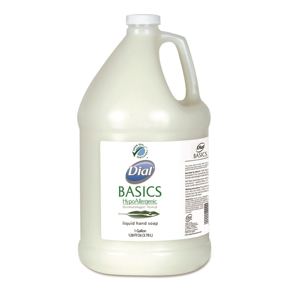 Dial® Basics Liquid Hand Soap 1 Gallon, Green Seal Certified