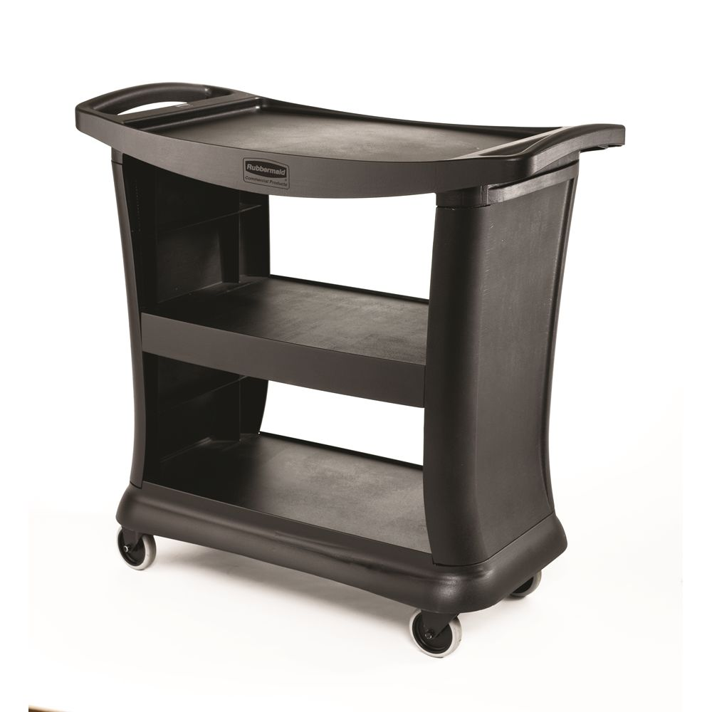Rubbermaid® Executive Series Service Cart, Black