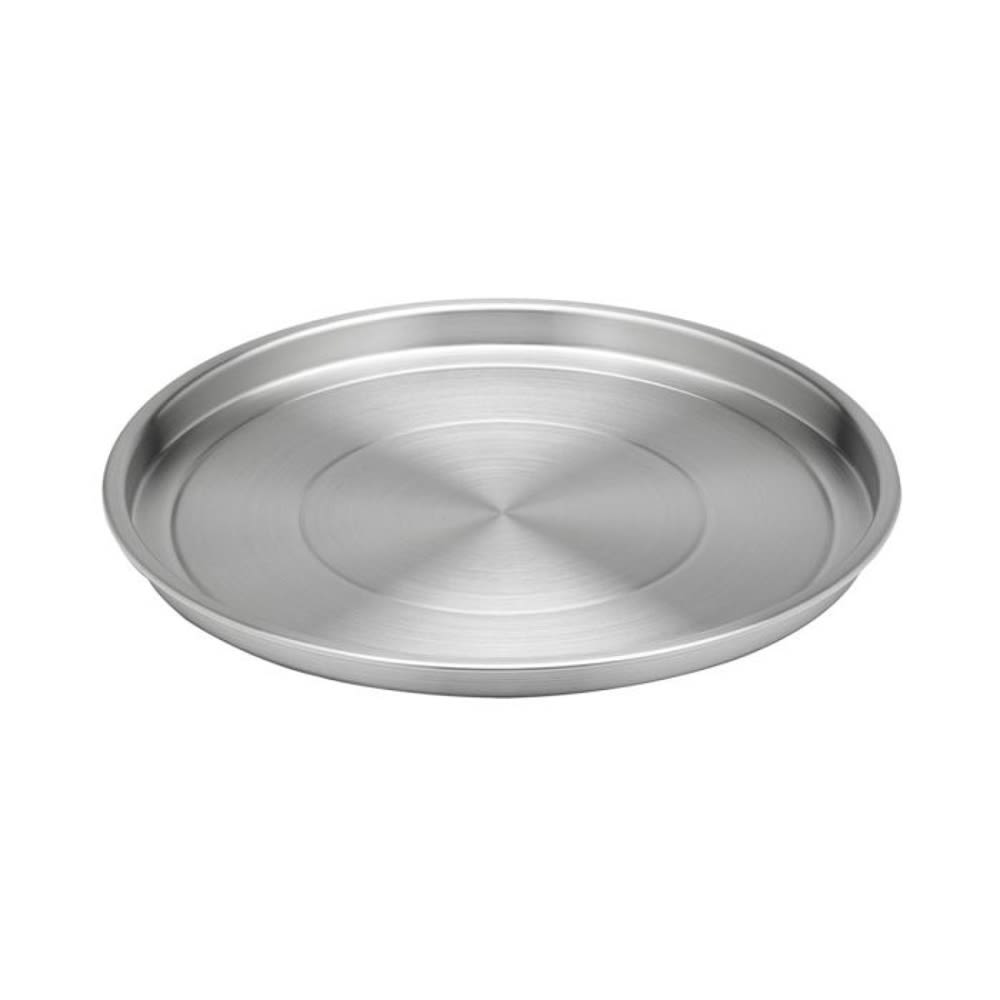 "12"" Round Serving Tray, Brushed Stainless Steel"