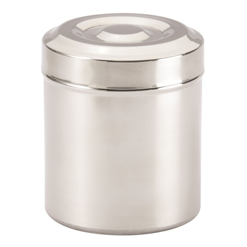 Basic Collection, Cotton Container, Polished Stainless Steel
