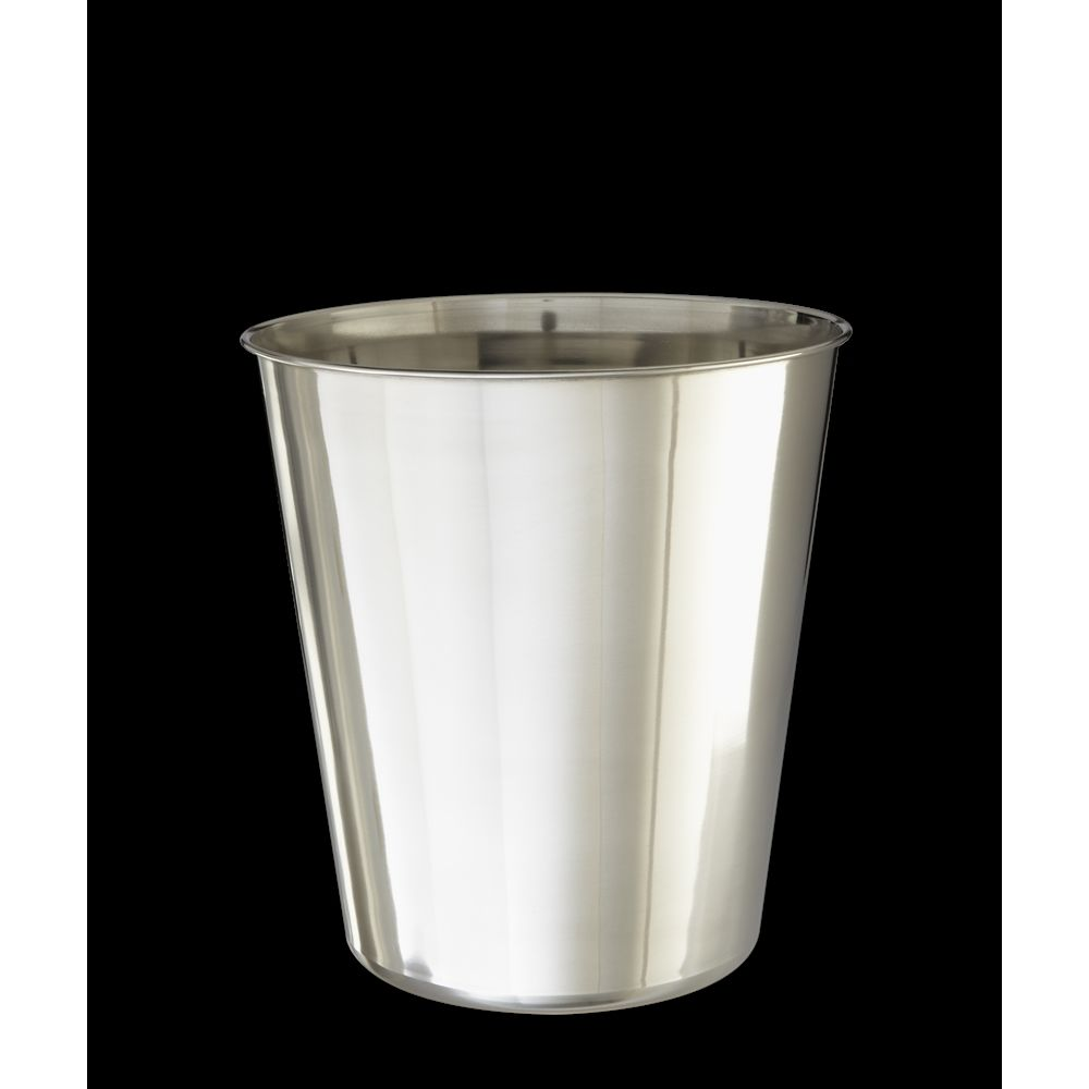 Basic Collection, 9 Quart Wastebasket, Polished Stainless Steel