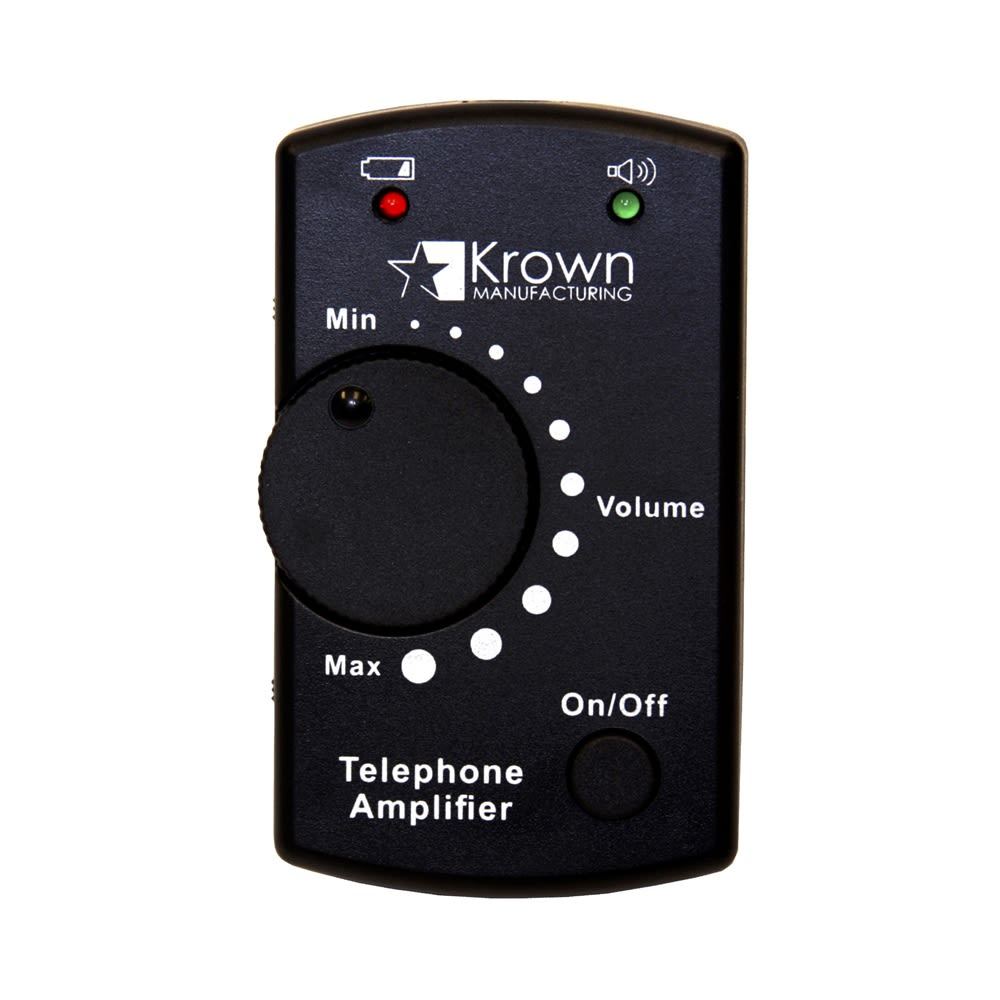 ADA Handset Telephone Amplifier, Black