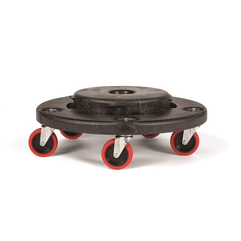 Rubbermaid® Brute® Quiet Dolly, 20.13 Dia. x 6.25, Black