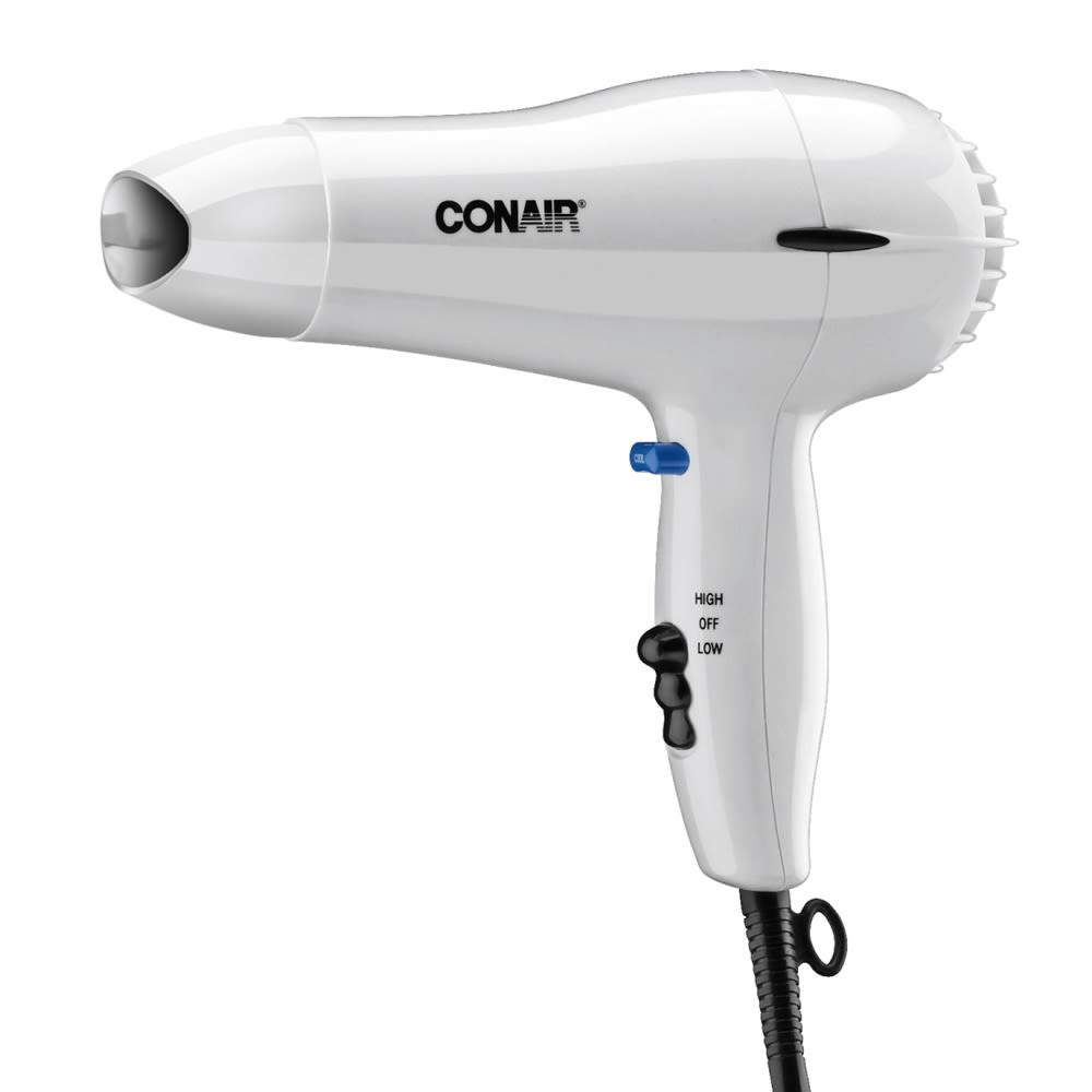 Conair® Hair Dryer, 1600 Watt, Hand Held with Cool Shot, White