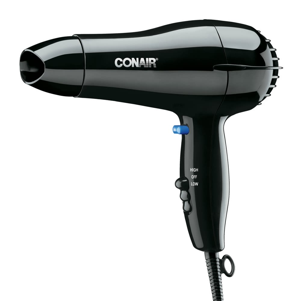 Conair® Hair Dryer, 1600 Watt, Hand Held with Cool Shot, Black