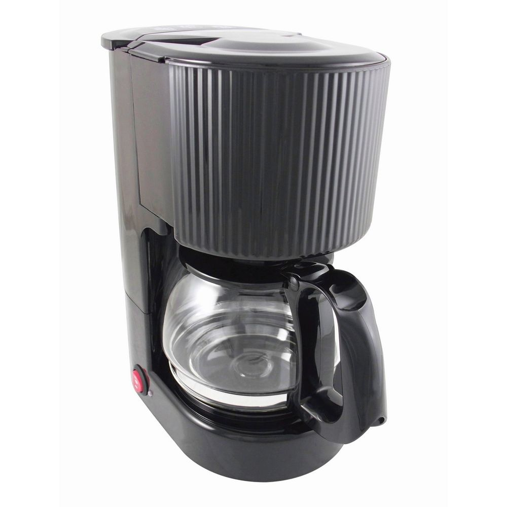 4-Cup Coffeemaker, Black with Glass Carafe
