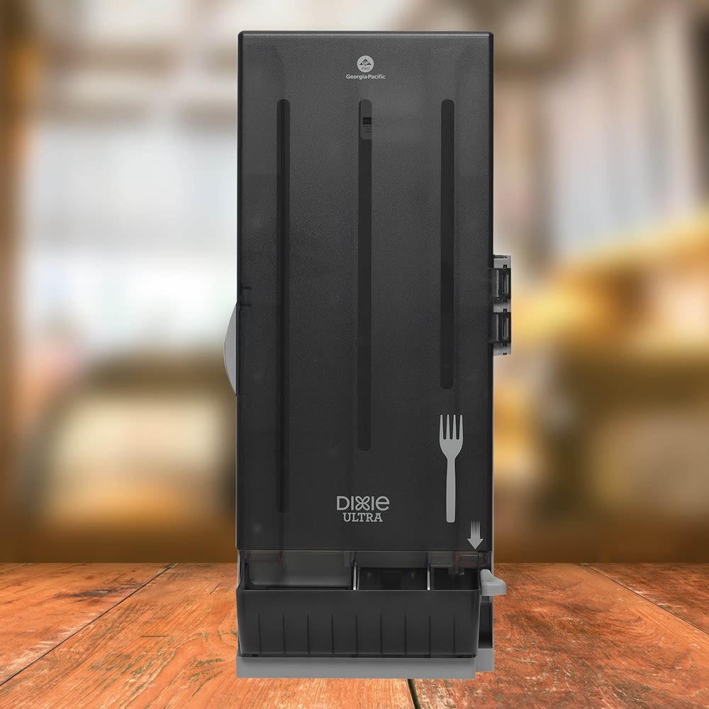 Dixie Ultra® SmartStock® Series-O Classic Fork Dispenser by GP PRO, Translucent Black