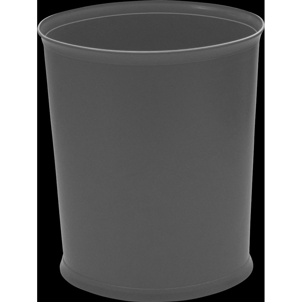 Design Line Wastebasket, 13 Quart Oval, Bankers Gray