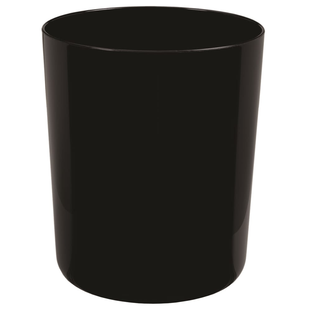 Celebrity Collection 7 Quart Round Wastebasket, Black