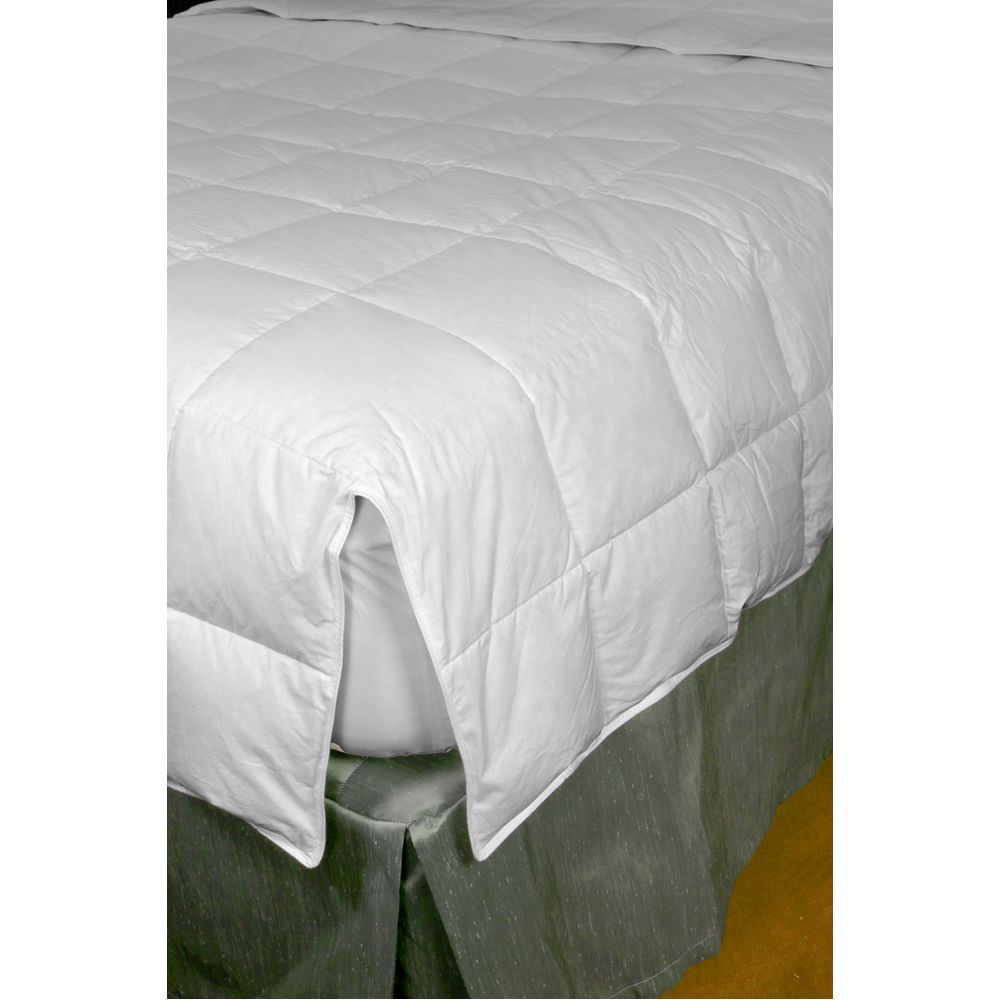 Down Dreams Advantiva Blanket, Natural Down Fill, Notched Cotton Shell, Queen 88x87, 23 oz, White