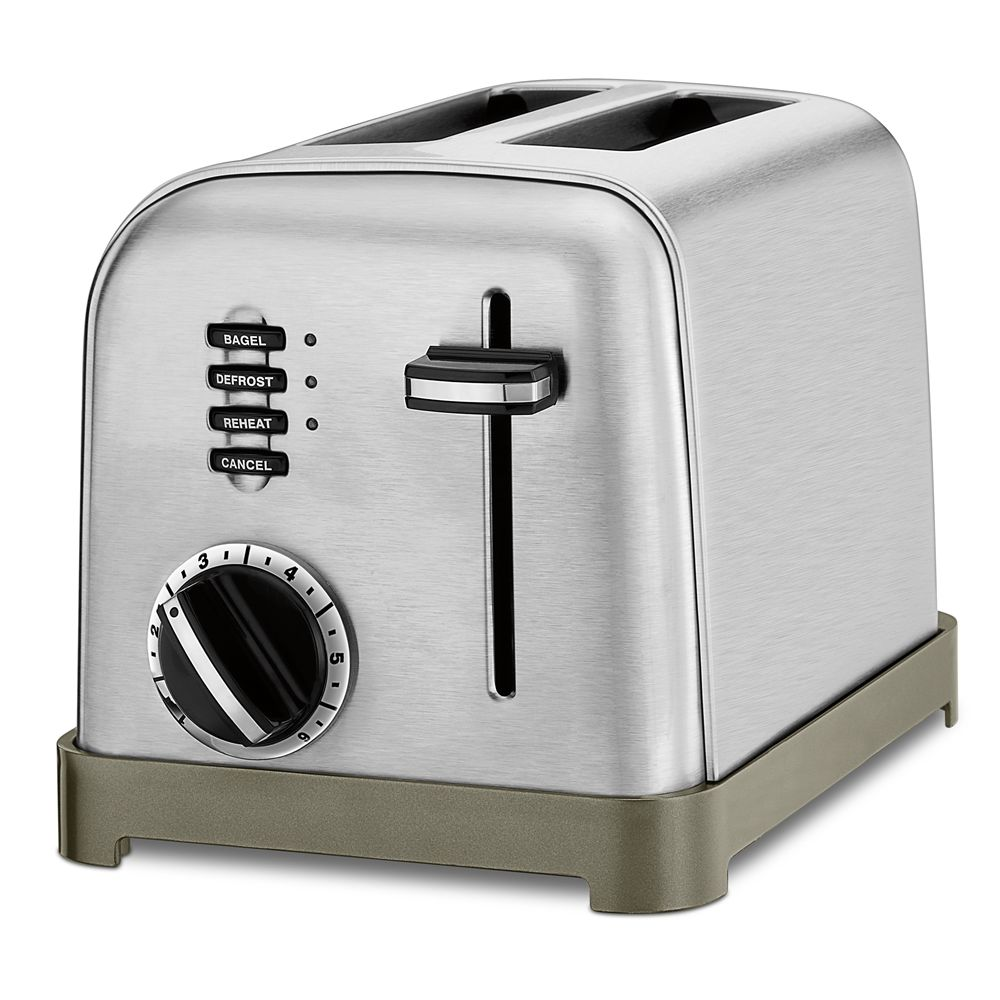 Cuisinart® Metal Classic 2-Slice Toaster, Brushed Stainless with Black Accents