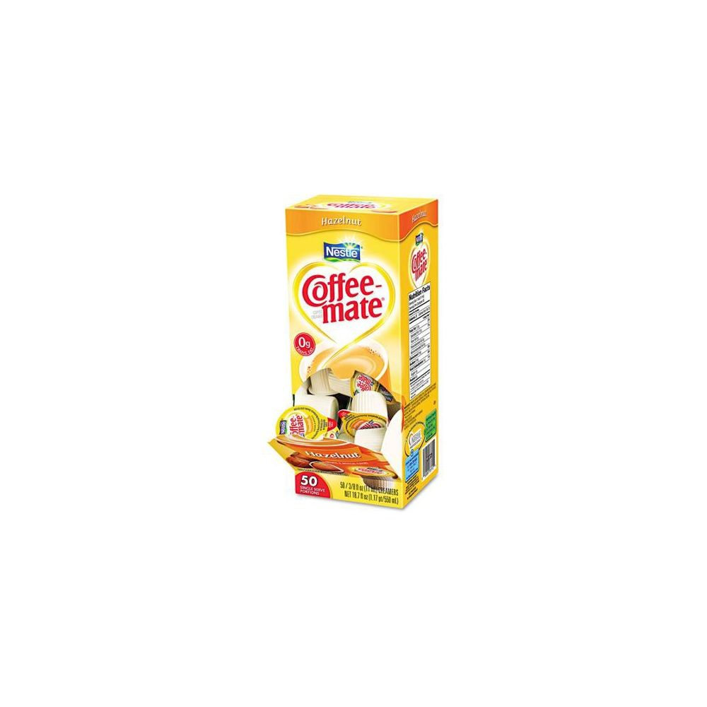 Nestle® Coffee-mate® Liquid Creamer, Hazelnut Flavor, Single Serve Mini Cups, 50 Creamers/Box