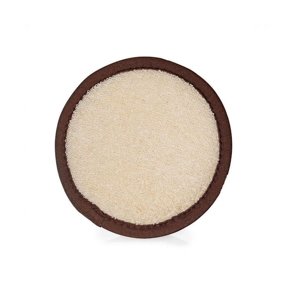Bath Loofah Sponge Natural round loofah with brown trim
