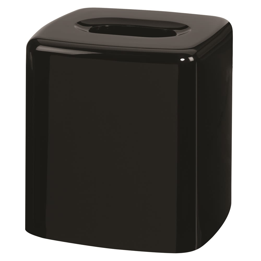 Celebrity Collection Plastic Boutique Tissue Box Cover, Black